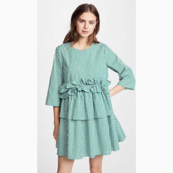 562814eaea18 English Factory Dresses | Nwt Green Gingham Baby Doll Dress | Poshmark